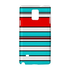 Blue, red, and white lines Samsung Galaxy Note 4 Hardshell Case