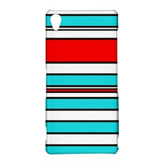 Blue, red, and white lines Sony Xperia Z3