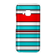 Blue, red, and white lines HTC One M9 Hardshell Case