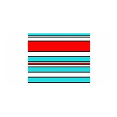 Blue, red, and white lines Satin Wrap