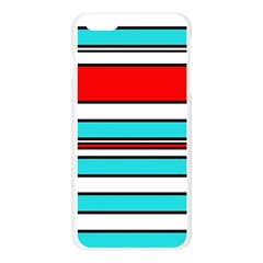 Blue, red, and white lines Apple Seamless iPhone 6 Plus/6S Plus Case (Transparent)