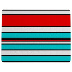 Blue, red, and white lines Jigsaw Puzzle Photo Stand (Rectangular)