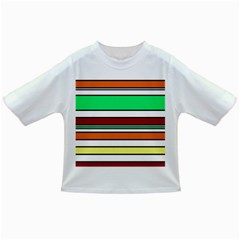 Green, orange and yellow lines Infant/Toddler T-Shirts
