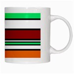 Green, orange and yellow lines White Mugs Right