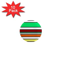 Green, orange and yellow lines 1  Mini Magnet (10 pack)