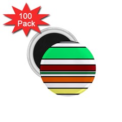 Green, orange and yellow lines 1.75  Magnets (100 pack)