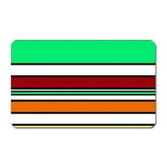Green, orange and yellow lines Magnet (Rectangular)