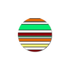 Green, orange and yellow lines Golf Ball Marker (4 pack)