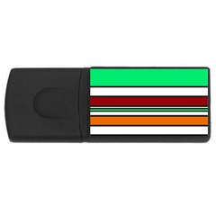 Green, orange and yellow lines USB Flash Drive Rectangular (1 GB)