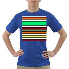 Green, orange and yellow lines Dark T-Shirt