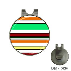Green, orange and yellow lines Hat Clips with Golf Markers