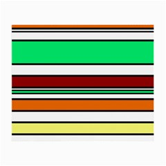 Green, orange and yellow lines Small Glasses Cloth