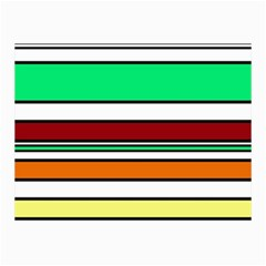 Green, orange and yellow lines Collage Prints