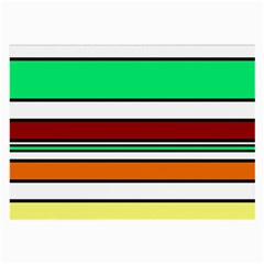 Green, orange and yellow lines Large Glasses Cloth (2-Side)