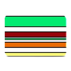 Green, orange and yellow lines Plate Mats
