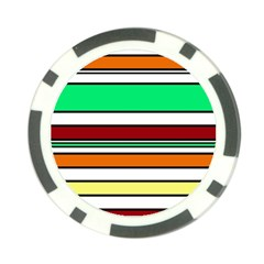 Green, orange and yellow lines Poker Chip Card Guards