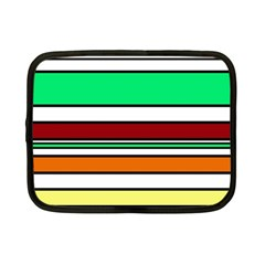 Green, orange and yellow lines Netbook Case (Small)