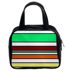 Green, orange and yellow lines Classic Handbags (2 Sides)