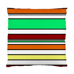 Green, orange and yellow lines Standard Cushion Case (Two Sides)