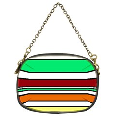 Green, orange and yellow lines Chain Purses (Two Sides)