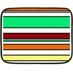 Green, orange and yellow lines Fleece Blanket (Mini)