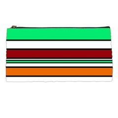 Green, orange and yellow lines Pencil Cases