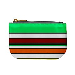 Green, orange and yellow lines Mini Coin Purses