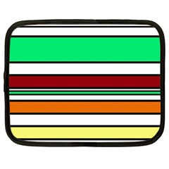 Green, orange and yellow lines Netbook Case (XL)