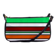 Green, orange and yellow lines Shoulder Clutch Bags