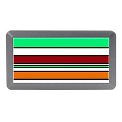Green, orange and yellow lines Memory Card Reader (Mini)