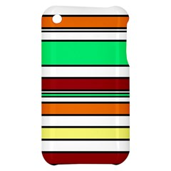 Green, orange and yellow lines Apple iPhone 3G/3GS Hardshell Case