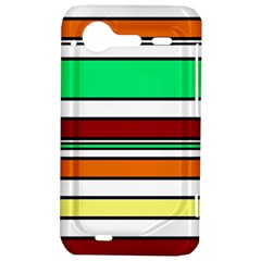 Green, orange and yellow lines HTC Incredible S Hardshell Case