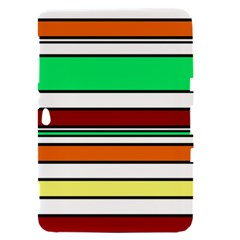 Green, orange and yellow lines Samsung Galaxy Tab 8.9  P7300 Hardshell Case