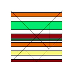 Green, orange and yellow lines Acrylic Tangram Puzzle (4  x 4 )