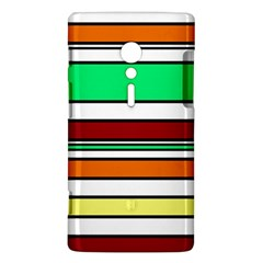 Green, orange and yellow lines Sony Xperia ion