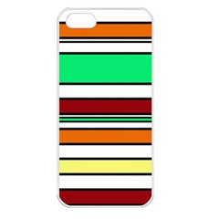 Green, orange and yellow lines Apple iPhone 5 Seamless Case (White)