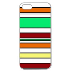 Green, orange and yellow lines Apple Seamless iPhone 5 Case (Clear)