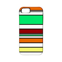 Green, orange and yellow lines Apple iPhone 5 Classic Hardshell Case (PC+Silicone)