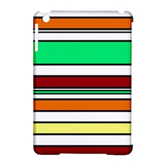 Green, orange and yellow lines Apple iPad Mini Hardshell Case (Compatible with Smart Cover)