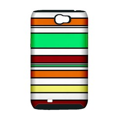 Green, orange and yellow lines Samsung Galaxy Note 2 Hardshell Case (PC+Silicone)
