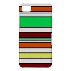 Green, orange and yellow lines BlackBerry Z10