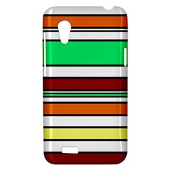 Green, orange and yellow lines HTC Desire VT (T328T) Hardshell Case