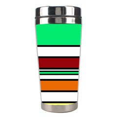 Green, orange and yellow lines Stainless Steel Travel Tumblers