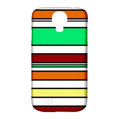 Green, orange and yellow lines Samsung Galaxy S4 Classic Hardshell Case (PC+Silicone)