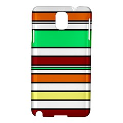 Green, orange and yellow lines Samsung Galaxy Note 3 N9005 Hardshell Case