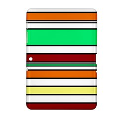 Green, orange and yellow lines Samsung Galaxy Tab 2 (10.1 ) P5100 Hardshell Case