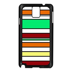 Green, orange and yellow lines Samsung Galaxy Note 3 N9005 Case (Black)