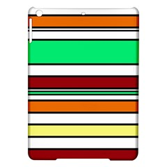 Green, orange and yellow lines iPad Air Hardshell Cases