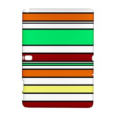 Green, orange and yellow lines Samsung Galaxy Note 10.1 (P600) Hardshell Case