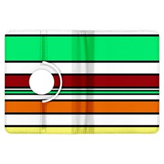 Green, orange and yellow lines Kindle Fire HDX Flip 360 Case